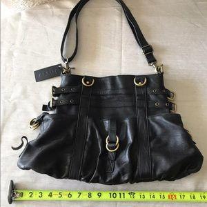 Steven by Steven Madden Leather Large Black Bag